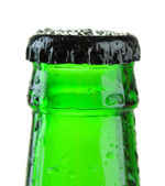 Bottle of beer isolated on white — Stock Photo