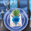 Table setting festive table — Stock Photo #28531663