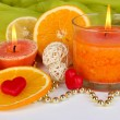 Romantic lighted candles close up — Stock Photo #28532997