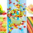 Collage of colorful candies — Stock Photo #28599775