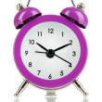 Retro alarm clock, isolated on white — Stock Photo
