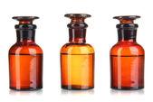 Medicine bottles isolated on white — Stock Photo