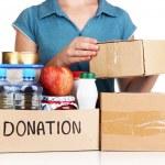Donation box isolated on white — Stock Photo #28650123
