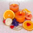 Romantic lighted candles close up — Stock Photo #28651109