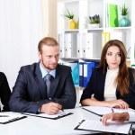 Job applicants having interview — Stock Photo #28651909