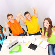 Group of young students sitting in the room — Stock Photo #28652047