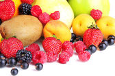 Vers fruit en bessen close-up — Stockfoto