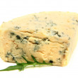 Stock Photo: Tasty blue cheese, isolated on white
