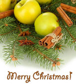 Beautiful Christmas composition close-up — Stock Photo
