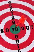 Målet med dart närbild — Stockfoto