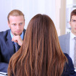 Job applicants having interview — Stock Photo
