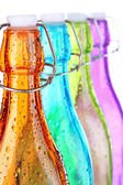Colorful bottles close-up — Stock Photo