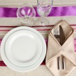 Table setting festive table — Stock Photo