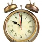 Old alarm clock isolated on white — Stock Photo