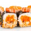 Stock Photo: Delicious sushi isolated on white