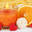 Romantic lighted candles close up — Stock Photo #28917961