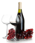 Red wine isolated on white — Stock Photo