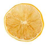Dried lemons isolated on white — Stock Photo
