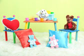 Modern child's room with equipment and toys — Foto Stock