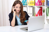 Business woman working in office — Stock Photo