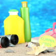 Conceptual image of summer holidays. On sea background — Stock Photo #29020967