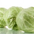 Cabbage isolated on white — Stock Photo