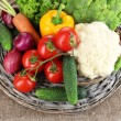 Fresh vegetables on burlap background — Stock Photo #29093017