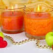 Romantic lighted candles close up — Stock Photo #29093959