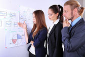 Young business team working in office — Stock Photo