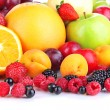 Fresh fruits and berries close up — Stock Photo #29131689