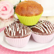 Stock Photo: Sweet cupcakes close up