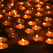 Burning candles on dark background — 图库照片