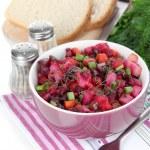 Beet salad in bowl close-up — Stock Photo #29251309