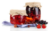 Home made berry jam isolated on white — Stock Photo