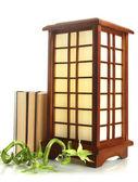 Japanese table lamp isolated on white — Stock Photo