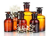 Medicine bottles isolated on white — ストック写真