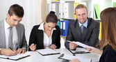Job applicants having interview — Stock Photo