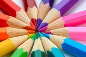 Colour pencils, close up — Stock Photo