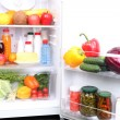 Refrigerator full of food — Foto de Stock