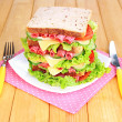 Huge sandwich — Stock Photo