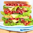 Stock Photo: Huge sandwich