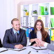 Stock Photo: Job applicants having interview