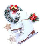 Figure skates isolated on white — Stock Photo