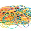 Stock Photo: Colorful rubber bands isolated on white