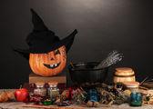 Scary halloween laboratory — Stock Photo