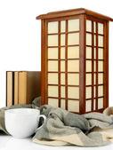 Japanse tafellamp geïsoleerd op wit — Stockfoto