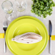 Stock Photo: Table setting festive table