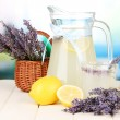 Stock Photo: Lavender lemonade, on bright background