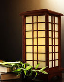 Japanese table lamp — Stock Photo