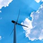 Windmill on blue sky background — Stock Photo #29532711